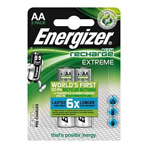 Pack 2 pilhas recarregáveis Energizer HR6/AA Extreme