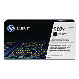 HP 507X High Yield Black Original Laserjet Toner Cartridge (CE400X)