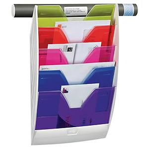 Cep Happy wall display rack 5 partitions assorted colours