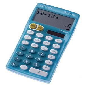 Calculatrice de poche Citizen FC-100N Junior, bleue, 10 chiffres