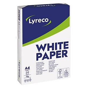 Papier A4 blanc Lyreco Standard FSC, 75 g, la boîte de 5 x 500 feuilles
