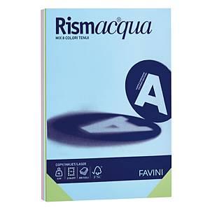 Carta colorata Favini Rismacqua A4 200 g/mq colori assortiti - risma 125 fogli