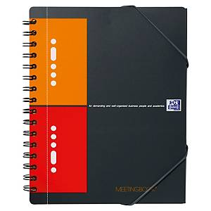 Cahier spirale Oxford Meetingbook A5+ - 160 pages - quadrillé