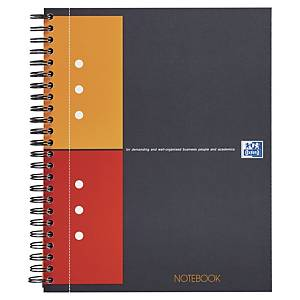 Oxford International Notebook spiraalschrift A5+ , geruit 5 x 5 mm, 80 vellen