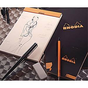 Notesbog Rhodia A4, 80 ark a 80 g, sort