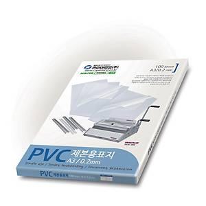 카피어랜드 PVC 제본용 표지 A3 0.2mm 투명 100매입