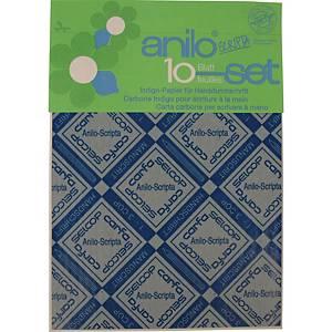 Kohlepapier für Handschrift Carfa Indigo A4, blau, Pack à 10 Blatt