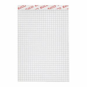 Bloc-notes Elco A6, 70 g/m2, 4 mm à carreaux, 100 feuilles