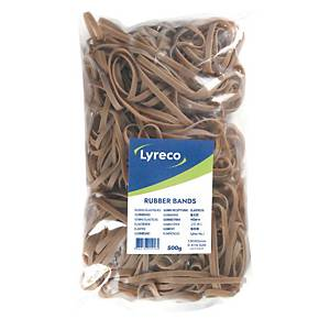 Lyreco rubber bands 150x5mm - box of 500g