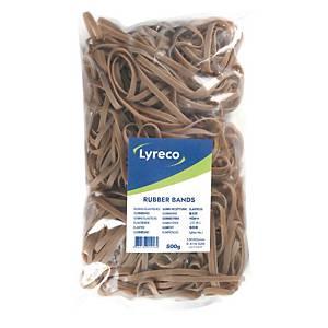 Elastikker Lyreco, 150 x 5 mm, pakke a 500 g
