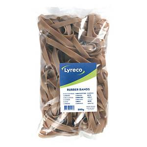 Lyreco rubber bands 180x10mm - box of 500g
