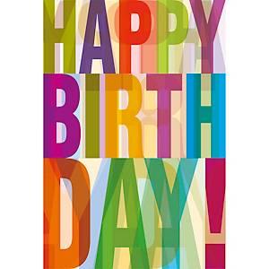 Geburtstagskarte ABC 44960, 117x173 mm, englisch
