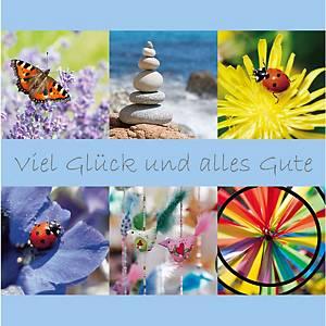 Carte d adieu Art Bula 15057, 212x212 mm, allemand