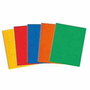 Cahier à reliure intégrale 17,5x22,1 cm, 48 feuilles, quadrillé 4 mm, assortis