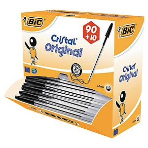 Bic Value Pack 90+10 free Bic Cristal ballpoint pen medium black