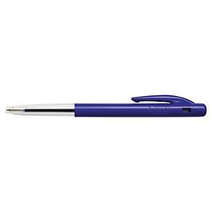 Bic® M10 balpen, intrekbaar, medium, blauw, per 90 stuks + 10 gratis