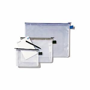 Pochette avec zip, 340x260 mm, transparent/noir