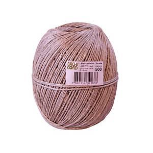 Ficelle en fibres naturelles, 1,6 mm, 250 m, 500 g, brun