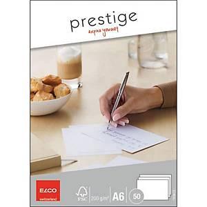 Schreibkarten Elco Prestige 73104.12, A6, 200 g/m2, weiss, Pack à 50 Stk.