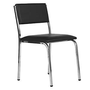 ACURA เก้าอี้จัดเลี้ยง/เก้าอี้พักคอย MN-62 หนังเทียม ดำ