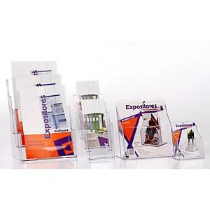 Expositor de secretária Archivo 2000 - A5 - 1 compartimento - transparente