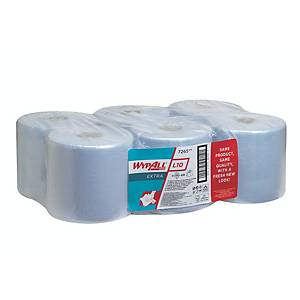 Wypall 7265 L10 Centrefeed Wiper Roll 1 Ply 700 Sheet Blue - Pack of 6