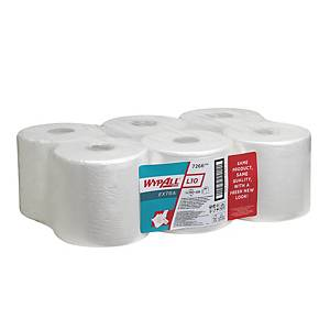 Wypall 7266 L10 Centrefeed Wiper Roll 1 Ply 700 Sheet White - Pack of 6