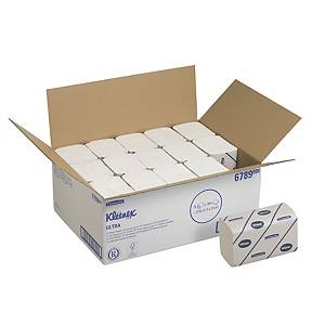 Kleenex Ultra Interfolded Hand Towels 6789 - 15 packs x 186 white, 2 ply sheets