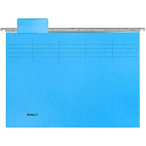Hängemappe Register Biella Original 271431, 6teilig, blau, Packung à 10 Stück
