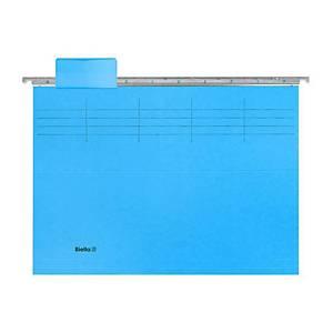 Dossier suspendu trieur Biella 271431, 6 onglets, bleu, emballage de 10 pièces