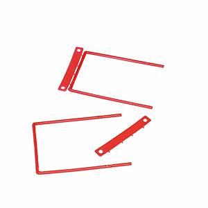 Relieur D-Clip, rouge, paq. 100unités