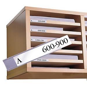 Porte-étiquettes 3L 751510, 15x150 mm, emballage de 10 pièces