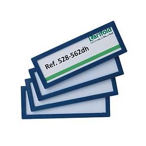 Pack de 4 molduras magnéticas de identificação Tarifold - 120 x 45 mm