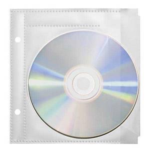 Pochettes transp. pr CD/DVD Favorit, pour 1 CD/DVD, transp., paq. 10unités