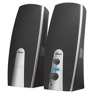 Stereo-Lautsprecherset Trust Mila 2.0, für PC, schwarz