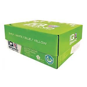 IQ กระดาษต่อเนื่องเคมี 3 ชั้น 9X5.5 นิ้ว 1 กล่อง บรรจุ 1000 ชุด