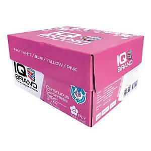 IQ กระดาษต่อเนื่องเคมี 4 ชั้น 9X5.5 นิ้ว 1 กล่อง 1000ชุด