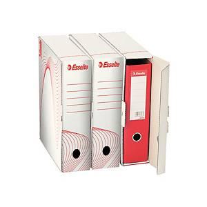 Archivačná krabica na pákový zakladač Esselte biela, balenie 25 kusov