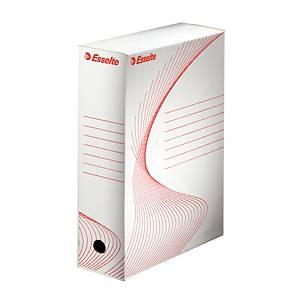 Esselte archiváló doboz, 10 cm, fehér, 25 darab/csomag