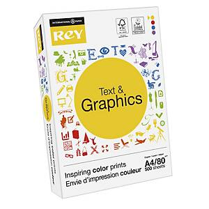 Rey Text & Graphics white paper A4 80g - pack of 500 sheets