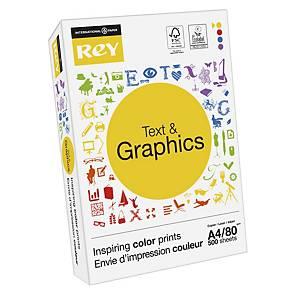 Papier A4 blanc Rey Text & Graphics, 80 g, les 500 feuilles