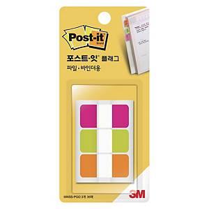 3M 포스트잇 플래그 인덱스탭 686SS-PGO 18mm 초록/주황/러블리 핑크