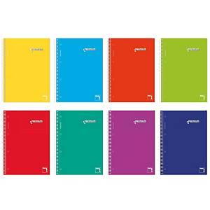 Caderno espiral Pacsa Premium - A4 - 160 folhas - quadriculado