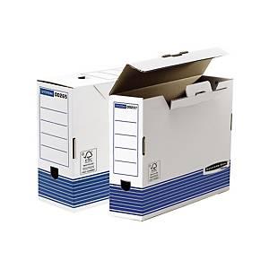 Pack 10 caixas de arquivo morto Fellowes - fólio - lombada 100 mm - branco