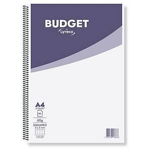 Cuaderno de espiral Lyreco Budget - folio - 80 hojas - cuadriculado