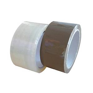 Packing tape, 48 mm x 60 m, 48 µm, brown