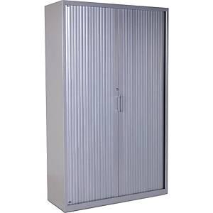 Armario con puertas de persiana Rocada - 1200 x 1980 mm - gris