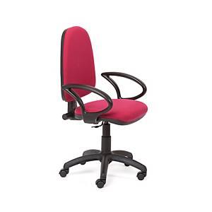 Cadeira com mecanismo de contacto permanente Rocada RD930 - bordeaux