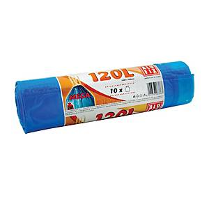 ROLL10 WASTE BAG 70X100CM 80MIC 120L BLU