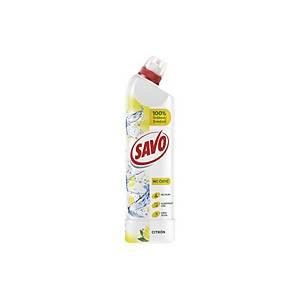 Čistiaci a dezinfekčný prostriedok Savo WC bez chlóru, citrón, 750 ml